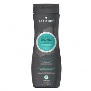 Attitude Super Leaves Mannen Shampoo & Body Wash - Care (473 ml)