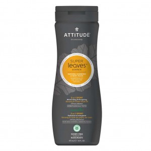 Attitude Super Leaves Mannen Shampoo & Body Wash - Sport