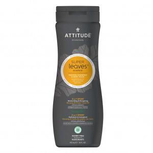 Attitude Super Leaves Mannen Shampoo & Body Wash - Sport (473 ml)