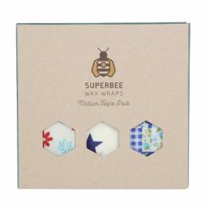 Superbee Herbruikbare Waxwraps Bijenwasfolie Medium (3 stuks)