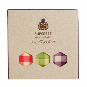 Superbee Herbruikbare Waxwraps Bijenwasfolie Small (3 stuks)