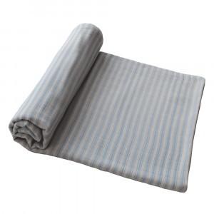 Mushie Swaddle Blue Stripes