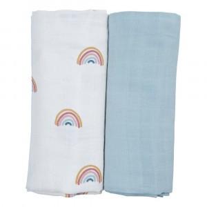 Fabelab Swaddle Rainbow (2-pack)