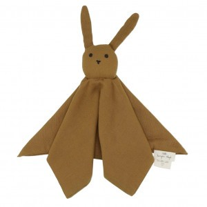 Konges Slojd Knuffeldoekje Sleepy Rabbit Dark Honey