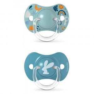 Suavinex Fopspeen Fysiologisch Silicone 0-6 maand (Reversible) Duo Forest Blue
