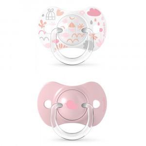 Suavinex Fopspeen Fysiologisch Silicone 0-6 maand (Reversible) Duo Memories Pink