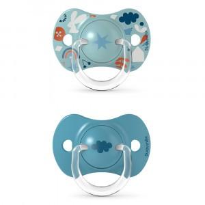 Suavinex Fopspeen Fysiologisch Silicone 6-18 maand (Reversible) Duo Forest Blue