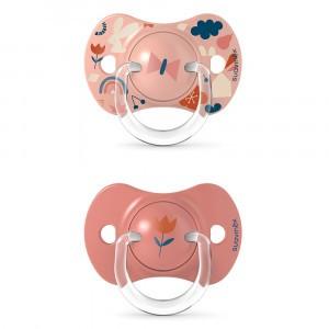 Suavinex Fopspeen Fysiologisch Silicone 6-18 maand (Reversible) Duo Forest Pink