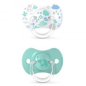 Suavinex Fopspeen Fysiologisch Silicone 6-18 maand (Reversible) Duo Memories Blue