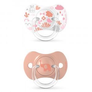 Suavinex Fopspeen Fysiologisch Silicone 6-18 maand (Reversible) Duo Memories Pink