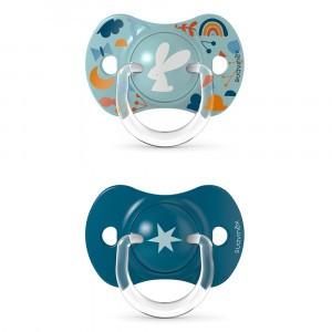 Suavinex Fopspeen Fysiologisch Silicone +18 maand (Reversible) Duo Forest Blue