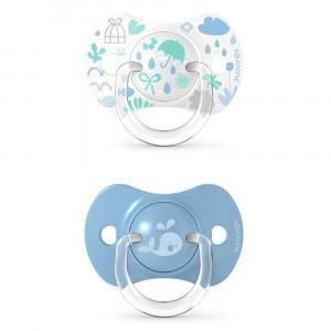 Suavinex Fopspeen Fysiologisch Silicone +18 maand (Reversible) Duo Memories Blue