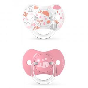 Suavinex Fopspeen Fysiologisch Silicone +18 maand (Reversible) Duo Memories Pink