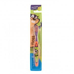 Brush Baby Flossbrush Oranje/Paars 3-6 jaar