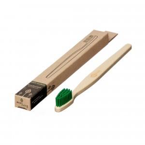 Ecoliving Tandenborstel voor volwassenen (Medium) Groen