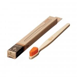 Ecoliving Tandenborstel voor volwassenen (Medium) Oranje