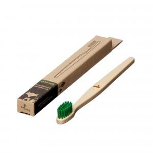 Ecoliving Tandenborstel voor kinderen (Soft) Vos Groen