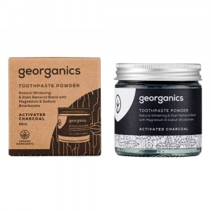 georganics Natural Tandpasta - Actieve Kool (60 ml)