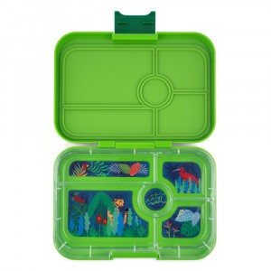 Yumbox Tapas met 5 vakken Go Green met Tray Jungle