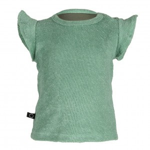 nOeser Ted T-Shirt frill Leafy Green (maat 50-80)