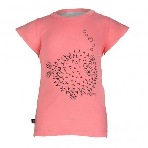 nOeser Ted Tee Frill Blowfish Coral Kind