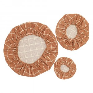 Haps Nordic Katoenen Covers (3-pack) Terracotta Check