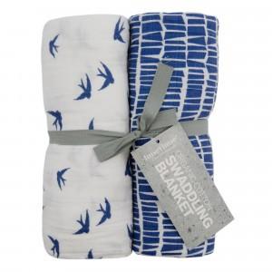 Imse Vimse Tetradoeken 120 x 120 cm Blue (2 pack)
