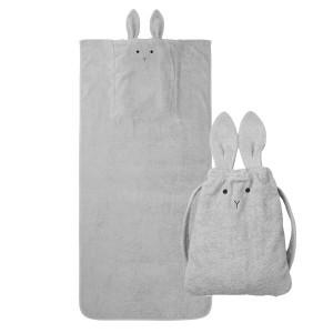 Liewood Handdoek Rugzak Konijn Dumbo Grijs