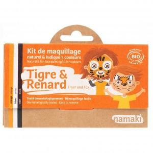 """Namaki Grimeerverf  Kit 3 Kleuren """"Tijger & Vos"""""""