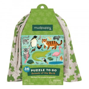 Mudpuppy Puzzel To Go Animals of the World (36 stukken)