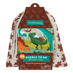 Mudpuppy Puzzel To Go Dinosaur Park (36 stukken)