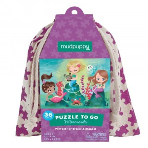 Mudpuppy Puzzel To Go Mermaids (36 stukken)