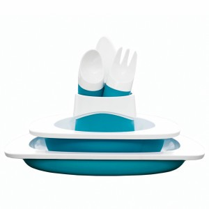 Toddler Copenhagen Eetset Aquablauw