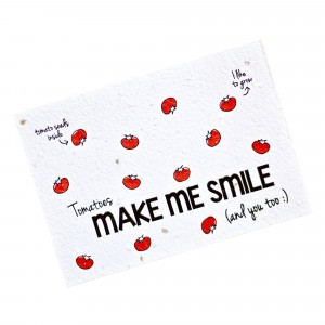 "Bloom Your Message Postkaart Tomato ""Make Me Smile"""