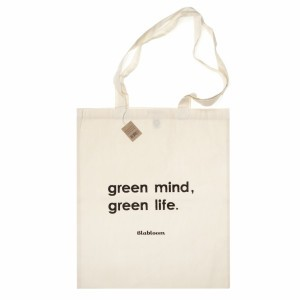 "Blabloom Tote Bag ""Green mind, green life"""