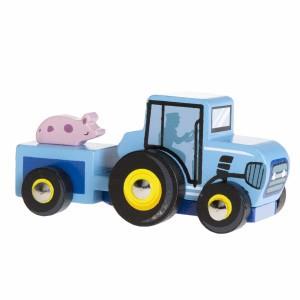 Le Toy Van Kleine Tractor Blauw