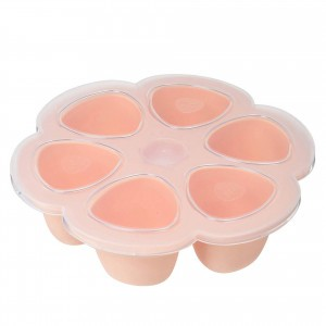 Beaba Siliconen Tray Multiportions Roze (6 x 90 ml)