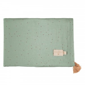 Nobodinoz Treasure Summer Dekentje (70 x 100cm) Toffee Sweet Dots/Eden Green