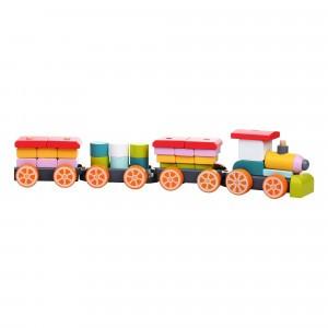 Cubika Houten Blokken Trein