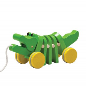 PlanToys Trekspeeltje Dansende Krokodil