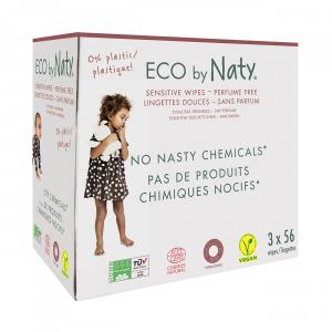 Naty Eco Vochtige doekjes (3 x 56 stuks) - Ongeparfumeerd