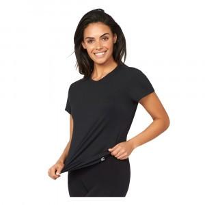 Boody Dames T-shirt Ronde Hals Zwart