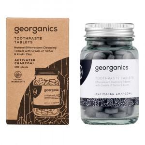 georganics Tandpasta Tabletten - Actieve Kool (120 stuks)