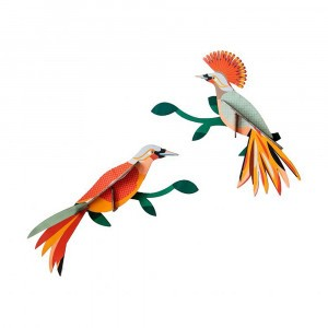 Studio Roof 3D Birds - Paradise Birds, Obi (2 stuks)