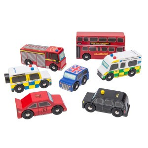 Le Toy Van Voertuigen 'The London Car set'
