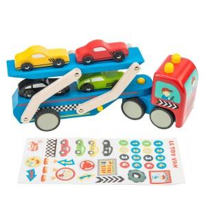 Le Toy Van Transportvoertuig met Race auto's