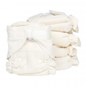 Voordeelpakket Popolini One Size Luier Ultrafit Soft Ecru ( 5 stuks )
