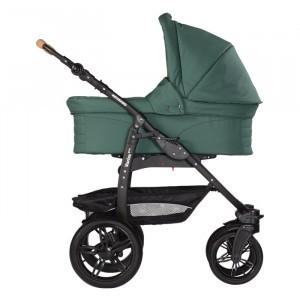 Naturkind Kinderwagen + Reiswieg Varius Pro Salbei