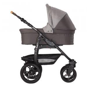 Naturkind Kinderwagen + Reiswieg Varius Pro Waschbär