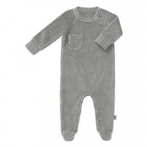 Fresk Pyjama met voetjes Velours Paloma Grey